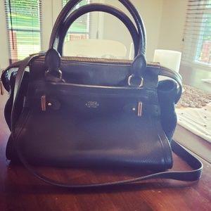 Vince Camuto Black Leather Satchel Bag